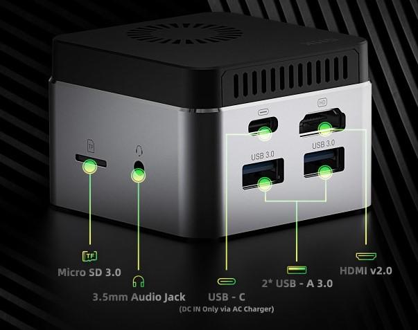 GMK NucBox neue Anschluesse