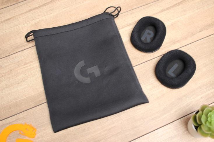 Logitech G PRO X Gaming Headset Stofftasche und Ohrpolster