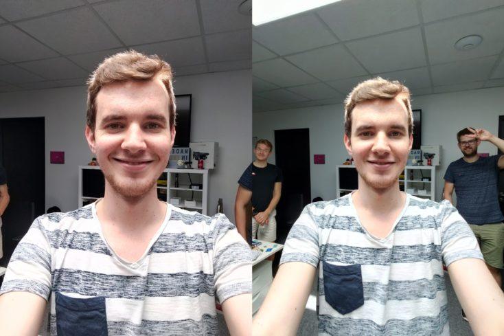 OnePlus Nord Selfie normal ultraweit Buero