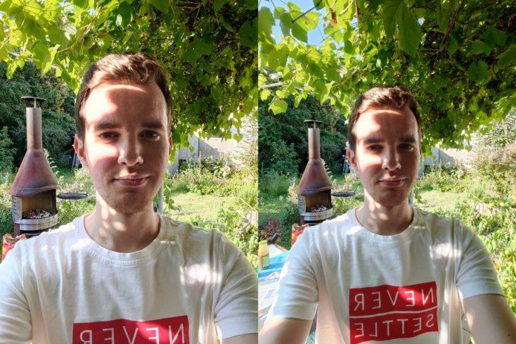 OnePlus Nord Selfie normal ultraweit Garten