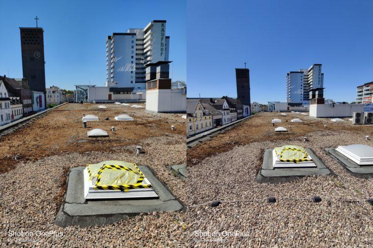 OnePlus Nord narmal Ultraweit Dach