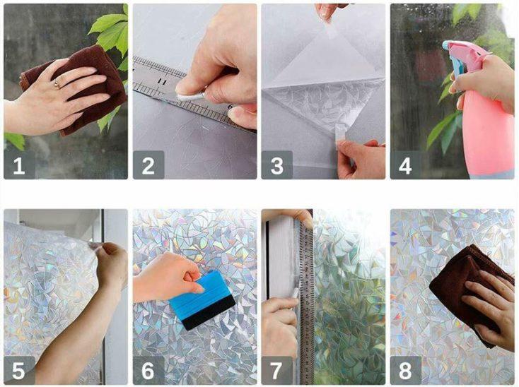 Anleitung zum Anbringen der Regenbogenfolie