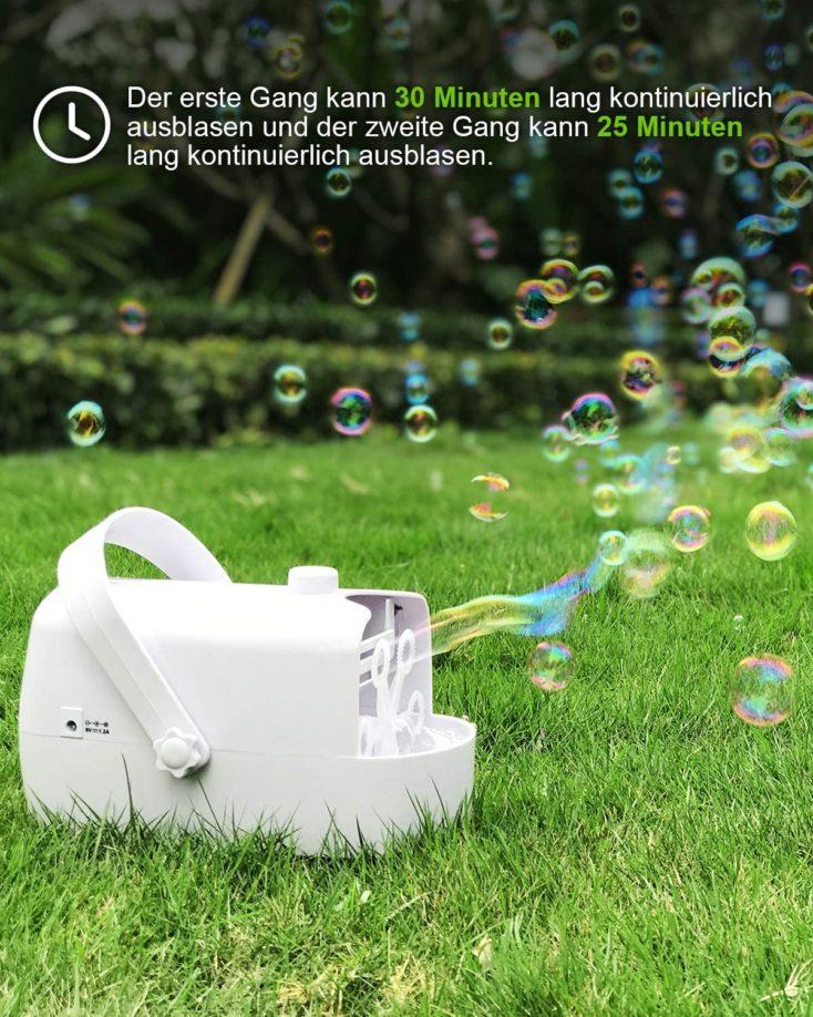Seifenblasenmaschine Wiese
