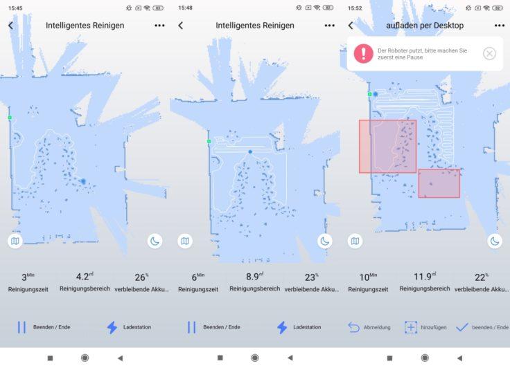 Simum 6 Saugroboter Mapping No Go Zonen