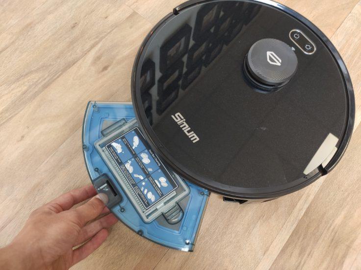 Simum 6 Saugroboter Staubkammer