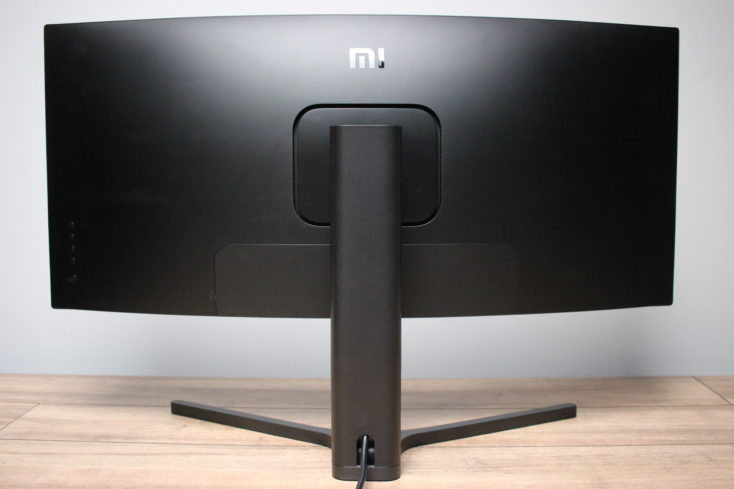 Xiaomi Curved Gaming Monitor Rueckseite mit Abdeckung