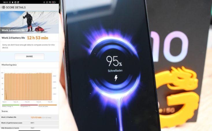 Xiaomi Mi 10 Lite 5G Akku Laufzeit Laden