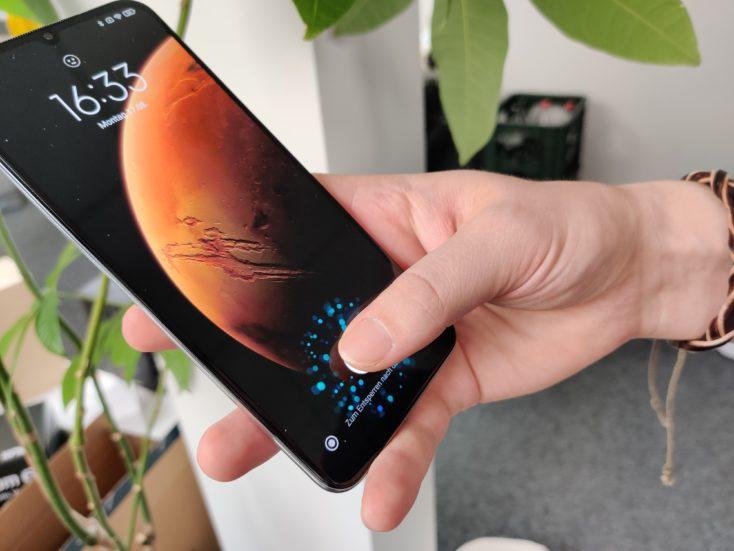 Xiaomi Mi 10 Lite 5G Fingerabdrucksensor