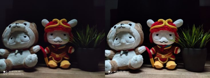 Xiaomi Mi 10 Lite 5G Normal vs Nachtmodus
