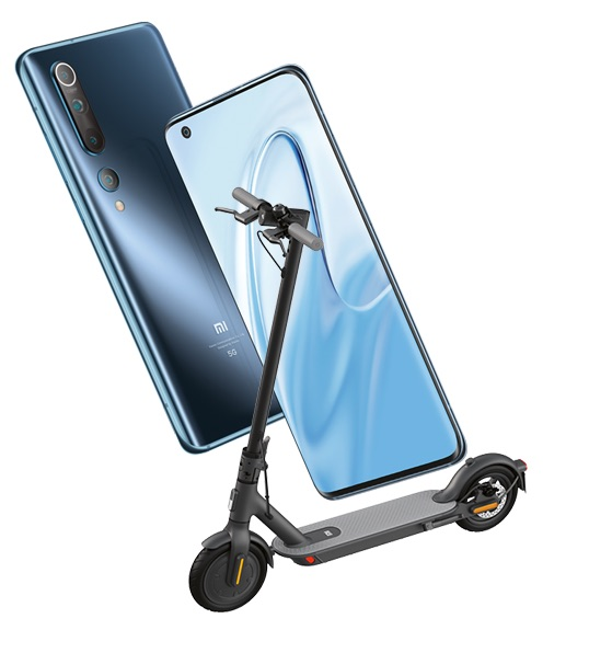 Xiaomi Mi 10 plus Mi Scooter 1S