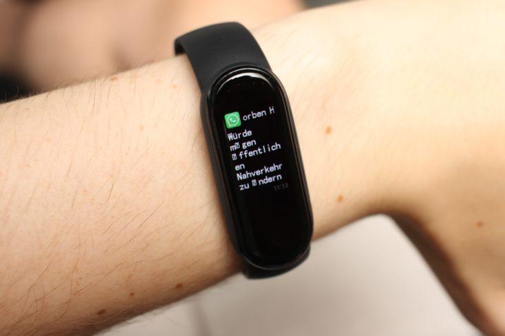 Xiaomi Mi Band 5 Umlaute deutsch