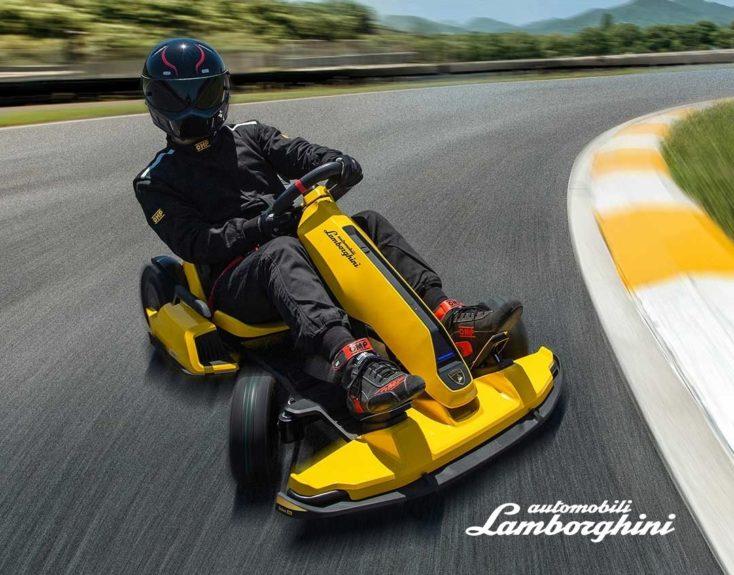 Xiaomi Ninebot Lamborghini Kart auf Rennstrecke