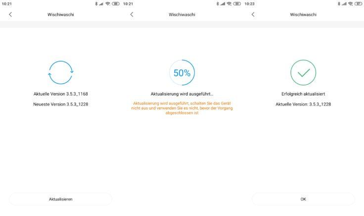 Xiaomi SWDK ZDG300 Wischroboter Firmware-Updates App