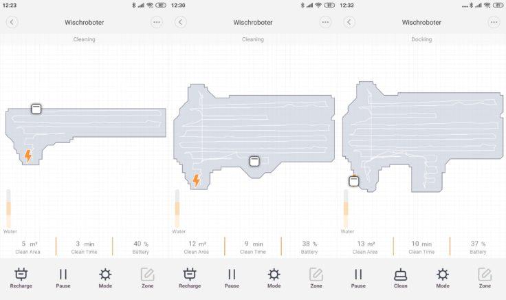 Xiaomi SWDK ZDG300 Wischroboter App Mapping