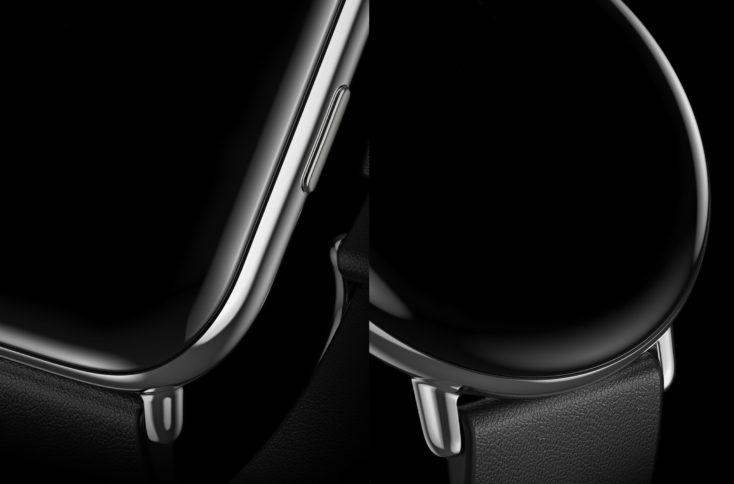 Zepp E Smartwatch close-up der Lünette