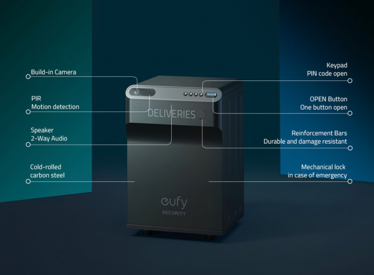 Design und Details der eufy Security Smart Drop