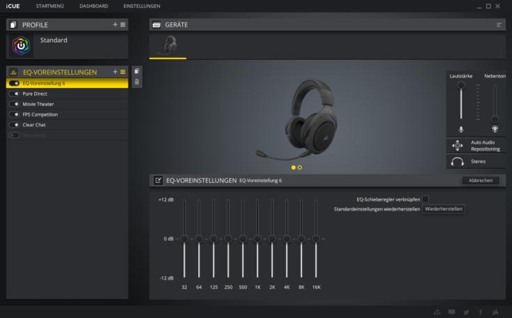 Corsair HS70 Pro Headset Software