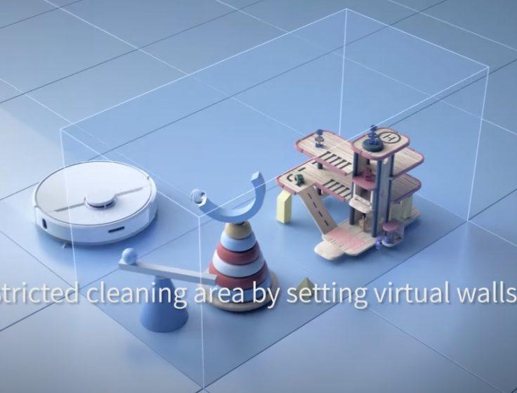Dreame D9 Saugroboter virtuelle Waende
