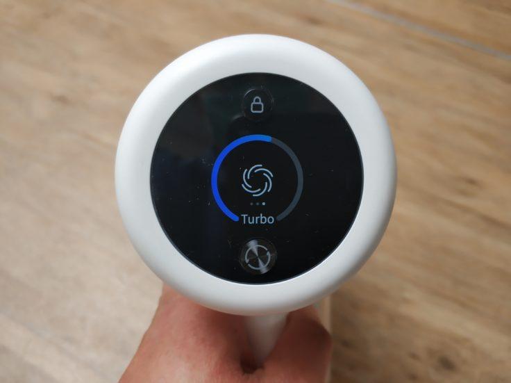 Dreame V10 Pro Akkustaubsauger Display Anzeige