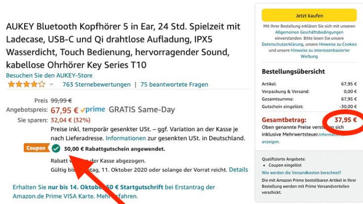 EP T10 Gutschein Amazon