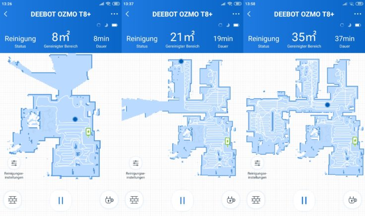 Ecovacs Deebot Ozmo T8 Saugroboter App Mapping