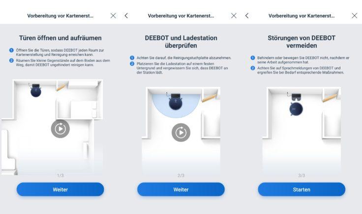 Ecovacs Deebot Ozmo T8 Saugroboter App Vorbereitung Reinigung