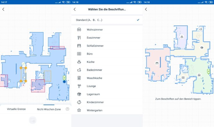 Ecovacs Deebot Ozmo T8 Saugroboter App selektive Raumeinteilung