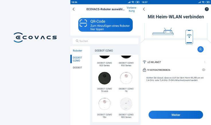 Ecovacs Deebot Ozmo T8 Saugroboter Home App