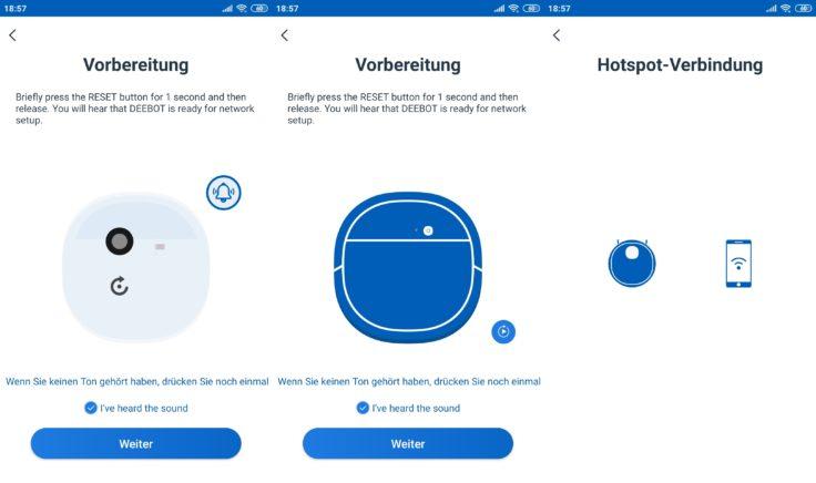 Ecovacs Deebot Ozmo T8 Saugroboter Home App Einbindung WLAN