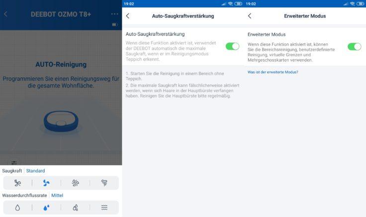 Ecovacs Deebot Ozmo T8 Saugroboter Home App Einstellungen vornehmen