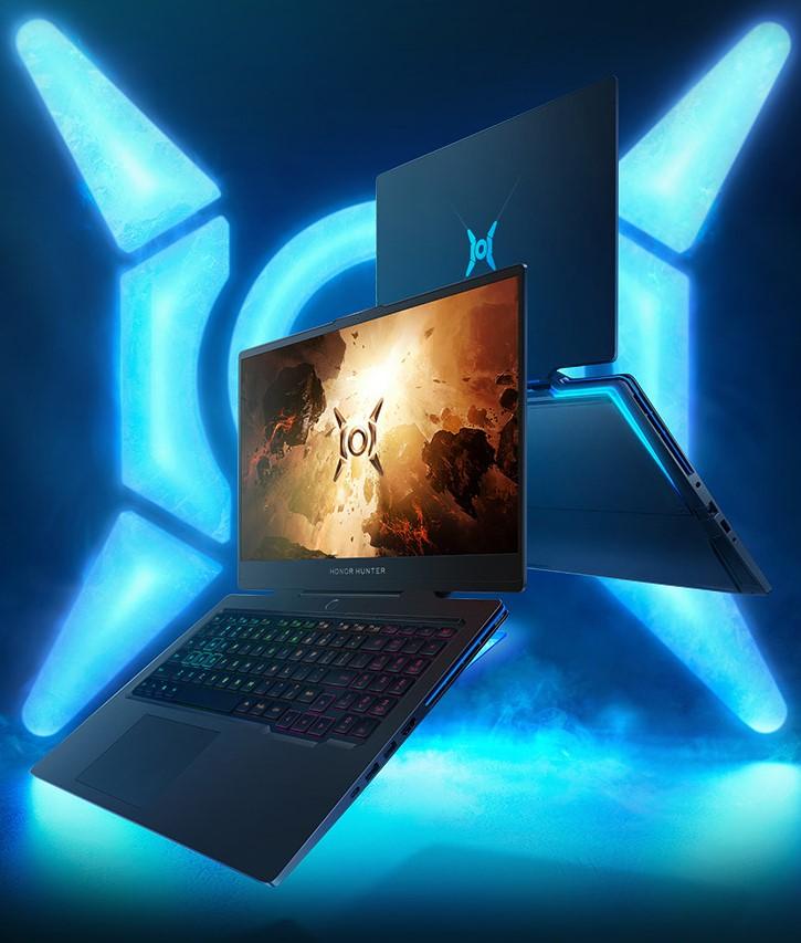 Honor Hunter V700 Laptop vor Beleuchtung