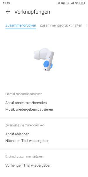 Huawei FreeBuds Pro Kopfhoerer App Bedienung