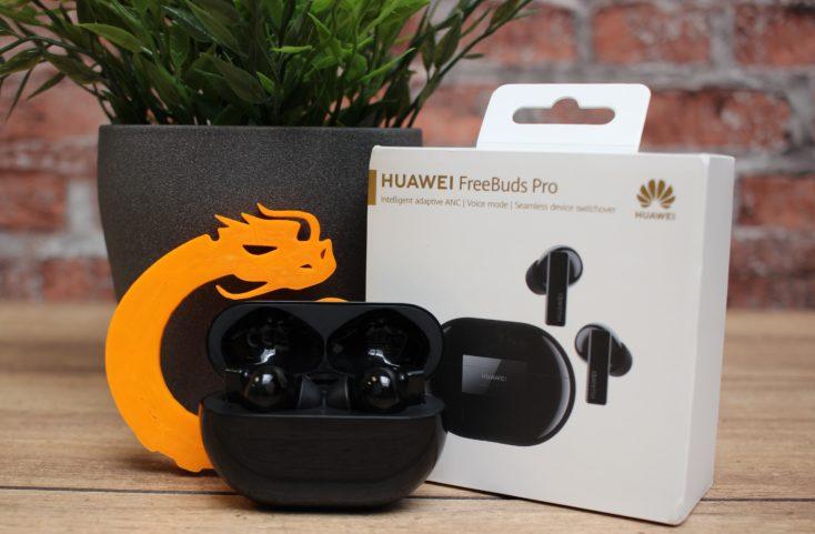 Huawei FreeBuds Pro Kopfhoerer Produktbild mit Verpackung