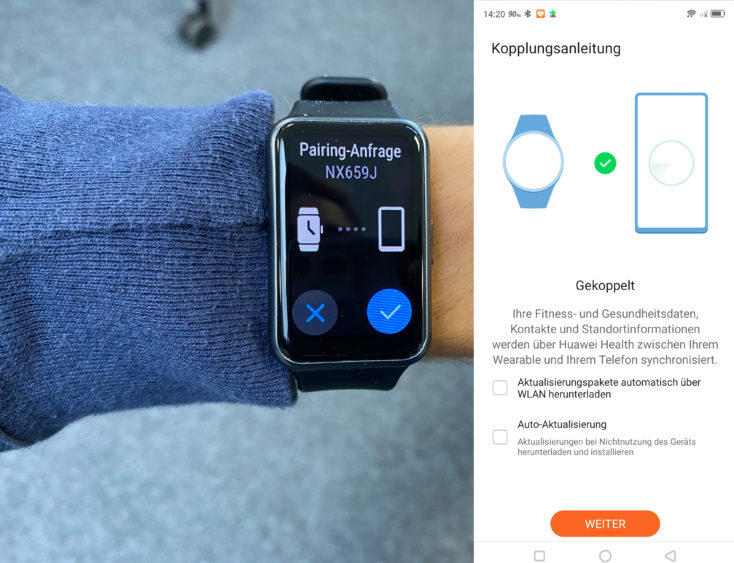 Huawei Watch Fit App koppeln