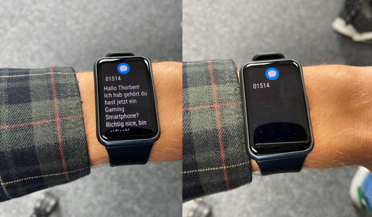 Huawei Watch Fit Smartwatch Benachrichtigungen