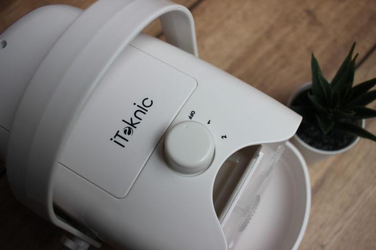 Seifenblasenmaschine Bedienungsknopf