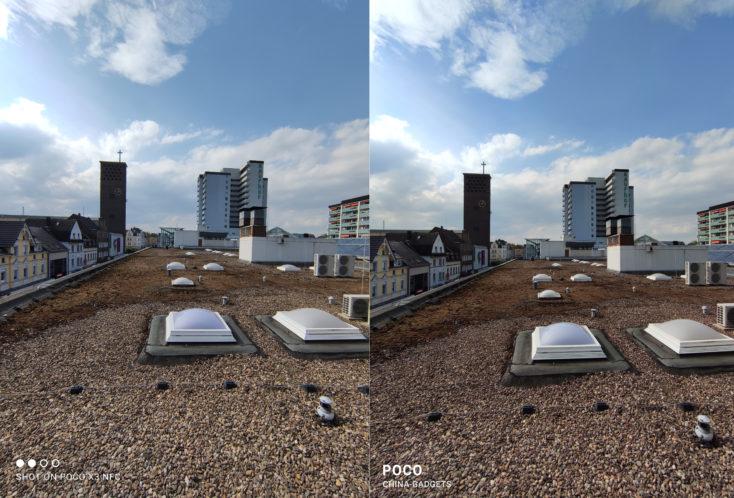 POCO X3 NFC Testfoto Ultraweitwinkelkamera Vergleich POCO F2 Pro