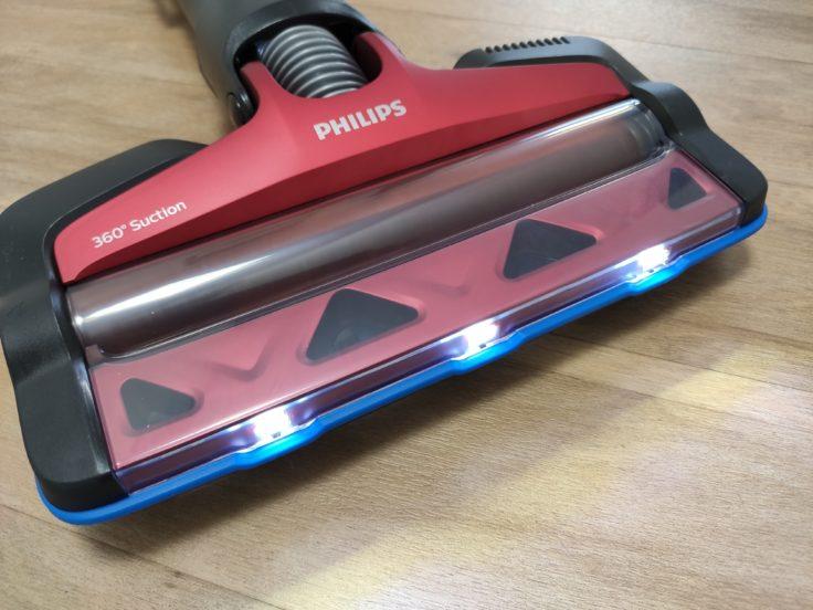 Philips XC7042 Speed Pro Max Akkustaubsauger LED Leuchten