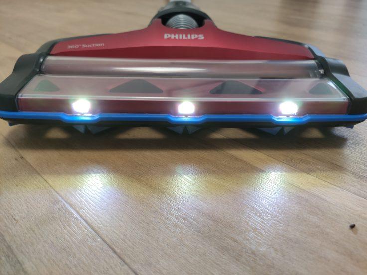 Philips XC7042 Speed Pro Max Akkustaubsauger LEDs Design