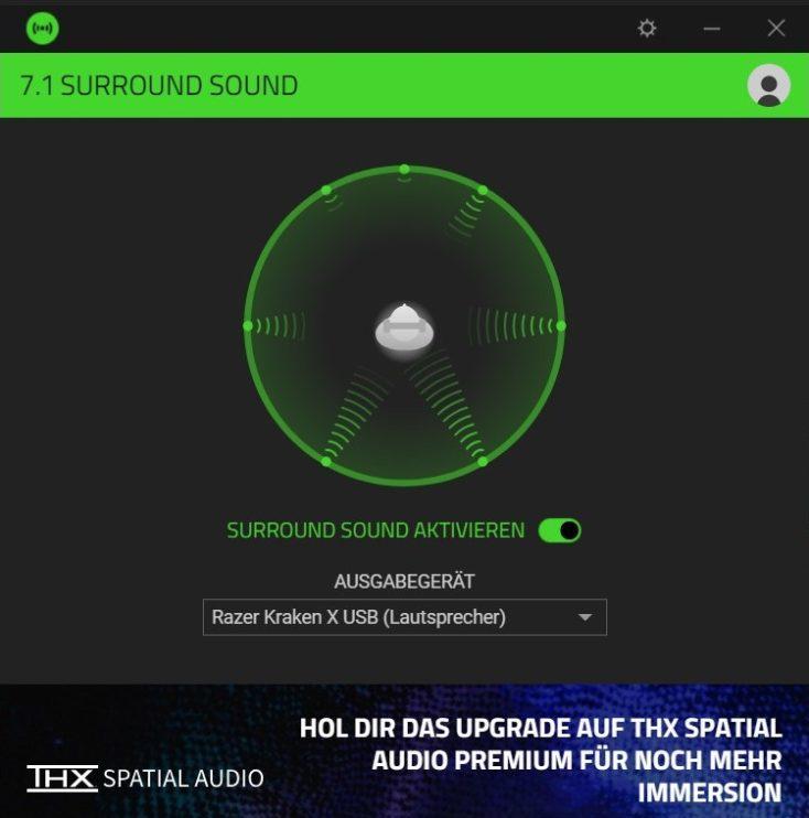 Razer Kraken X USB Headset Software