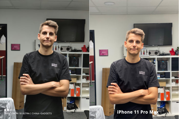 Xiaomi Mi 10 Ultra Testfoto Potraitfoto Vergleich iPhone