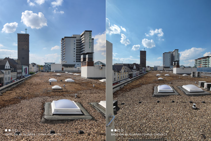 Xiaomi Mi 10 Ultra test photo ultra wide angle vs main camera