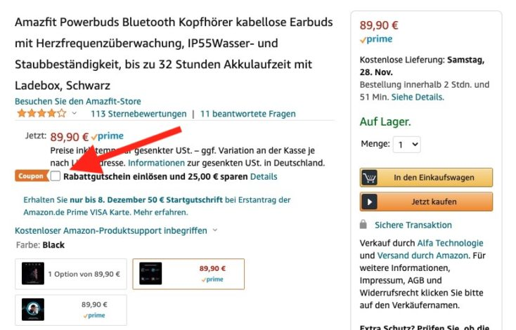 Amazfit Powerbuds Gutschein