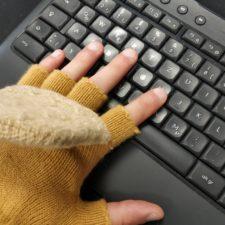 Beheizbare USB-Handschuhe Tastatur