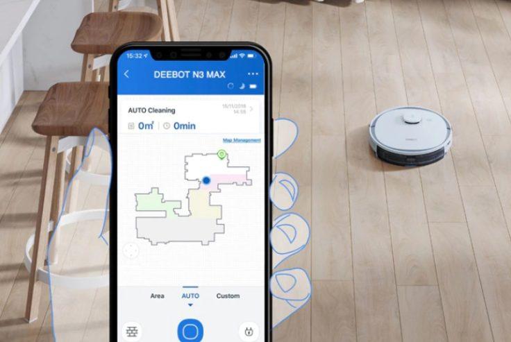 Ecovacs Deebot N3 Max Saugroboter Home App Steuerung