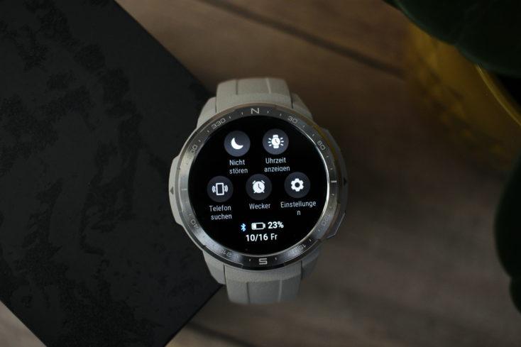 Honor Watch GS Pro Schnelleinstellungen