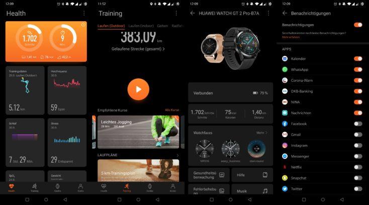 Huawei Watch GT 2 Pro Huawei Health App