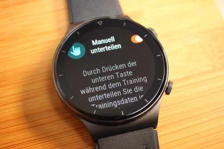 Huawei Watch GT 2 Pro Intervalle Runden