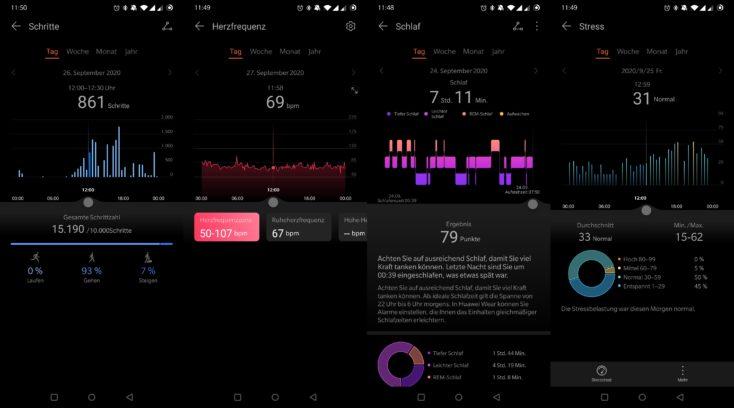 Huawei Watch GT 2 Pro Schritte Puls Schlaf Stress
