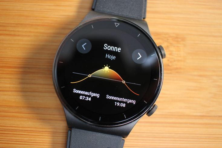 Huawei Watch GT 2 Pro Sonnenstand
